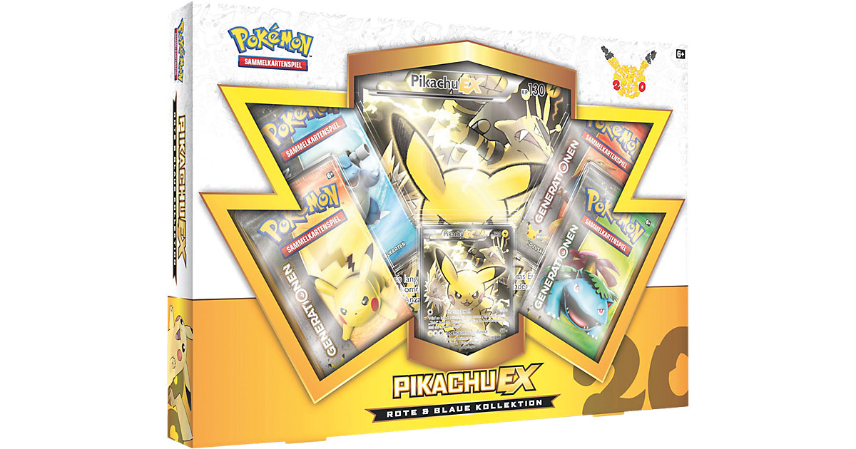 Pokemon Sammelkarten - Rote & Blaue Kollektion Pikachu