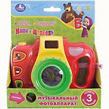 Музыкальный фотоаппарат, 3 песни, свет, Маша и Медведь, Умка