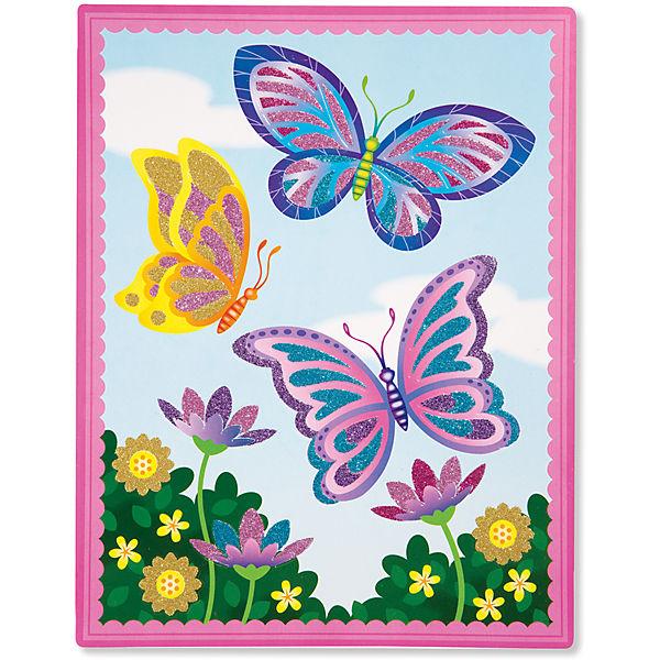 """Создание картинок в блестками """"Бабочки"""""""