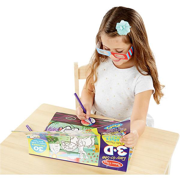 Раскраска для девочек с 3D очками