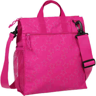 Wickeltasche Casual, Buggy Bag, Reflective Star, magenta