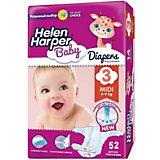 Подгузники Midi Helen Harper Baby 4-9 кг., 52 шт.