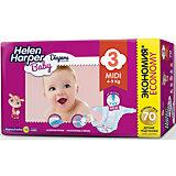 Подгузники Midi Helen Harper Baby 4-9 кг., 70 шт.