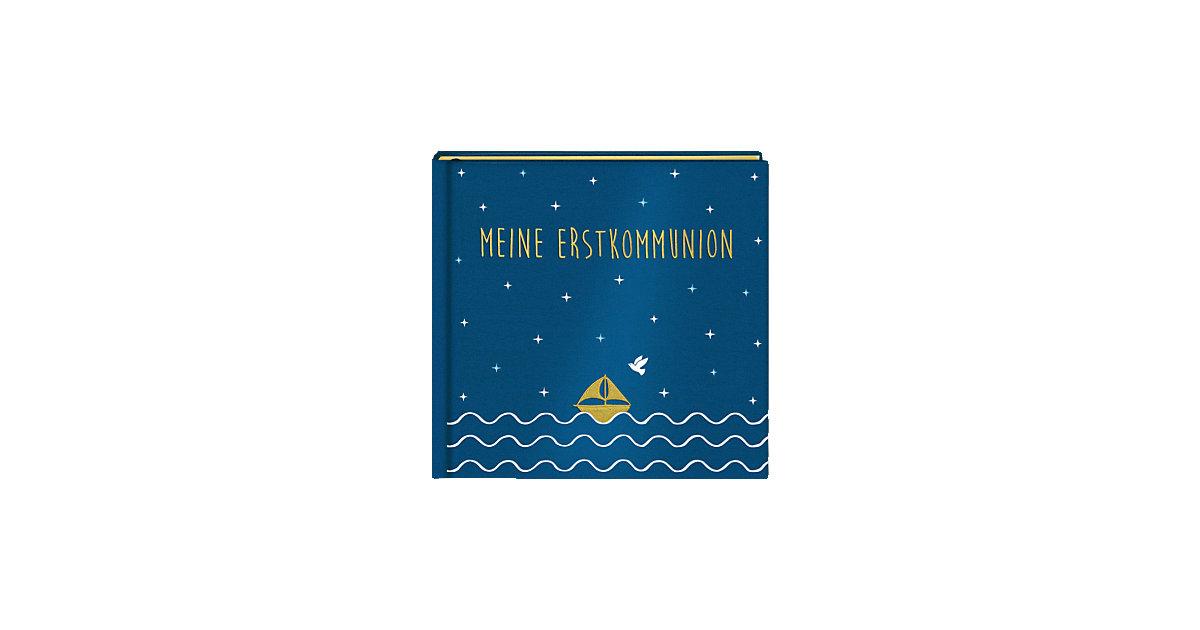 Buch - Meine Erstkommunion, Eintragalbum, Satin blau