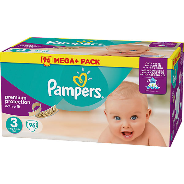 1x96 Stück Pampers Active Fit Gr.3 Midi 5-9kg Mega Plus Pack
