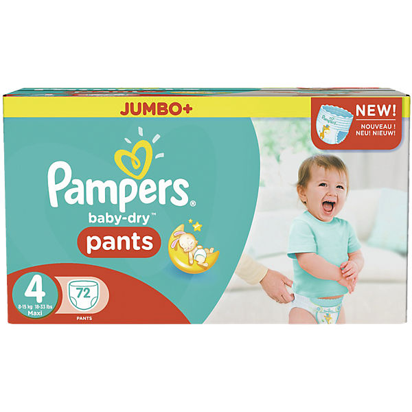 1x72 Stück Pampers Baby Dry Pants Gr.4 Maxi 8-15kg Jumbo Plus Pack
