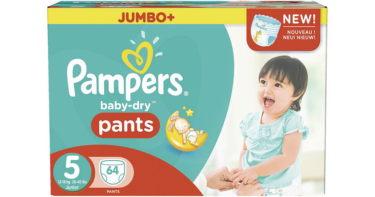 1x64 Stück Pampers Baby Dry Pants Gr.5 Junior 12-18kg Jumbo Plus Pack Gr. 12-18 kg