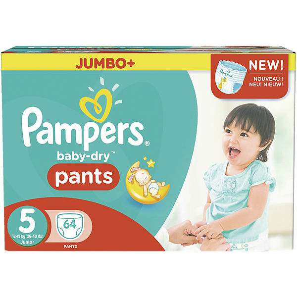 1x64 Stück Pampers Baby Dry Pants Gr.5 Junior 12-18kg Jumbo Plus Pack