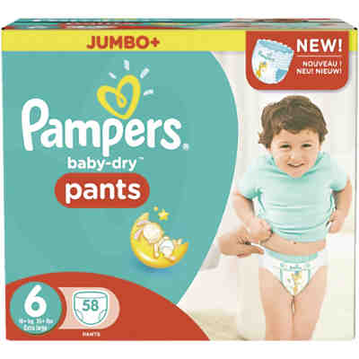1x58 Stück Pampers Baby Dry Pants Gr.6 Extra Large 16+kg Jumbo Plus Pack