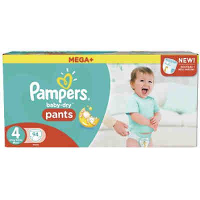 1x94 Stück Pampers Baby Dry Pants Gr.4 Maxi 8-15kg Mega Plus Pack