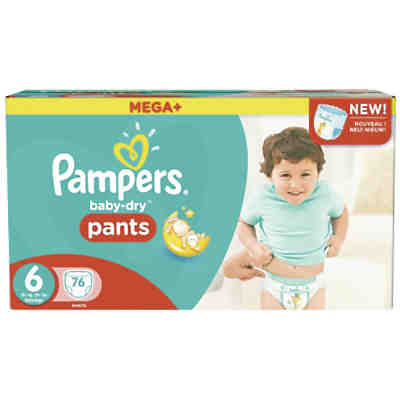 1x76 Stück Pampers Baby Dry Pants Gr.6 Extra Large 16+kg Mega Plus Pack