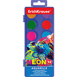 Акварельные краски Neon, 12 цв., Erich Krause