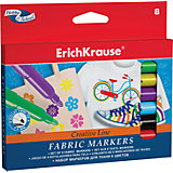 Фломастеры для ткани, 8 цв., Erich Krause