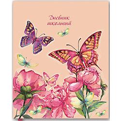 """Дневник """"Бабочки и пионы"""