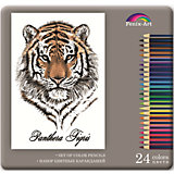 """Набор цветных карандашей """"Тигр"""", 24 шт."""