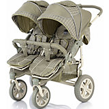 Прогулочная коляска для двойни Baby Care Cruze DUO, оliva сherker