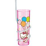Стакан с витой соломинкой (325 мл), Hello Kitty