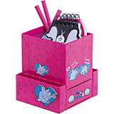 """Подарочный канцелярский набор """"Слон"""" (2 записные книжки,3 карандаша, ластик)"""