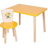 Набор: стол и стул, Русэкомебель, желтый