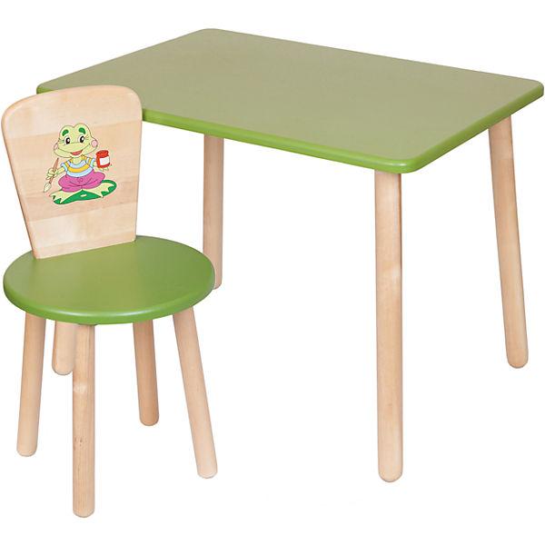 Набор: стол и стул, Русэкомебель, зеленый