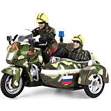 """Мотоцикл с люлькой """"Военные силы"""", инерц., свет+звук, ТЕХНОПАРК"""