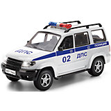 "Машина ""Уаз Патриот Полиция"", инерц., свет+звук, ТЕХНОПАРК"