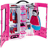 "Мебель для куклы Barbie ""Шкаф модниц"", розовый"