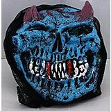 """Карнавальная маска """"Череп с рожками"""", голубой"""