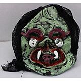 """Карнавальная маска """"Клыкастый череп"""", хаки"""