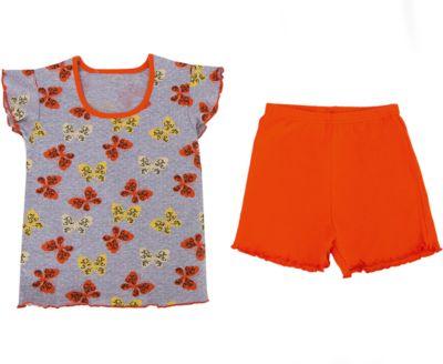 Пижама для девочки Апрель - оранжевый