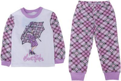 Пижама для девочки Апрель - розовый