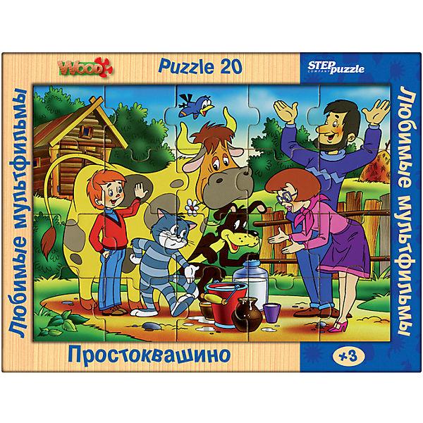"""Деревянный пазл """"Простоквашино"""", 20 деталей, Step Puzzle"""