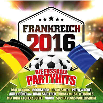 CD Frankreich 2016 - die Fußball Party Hits (2 CDs)