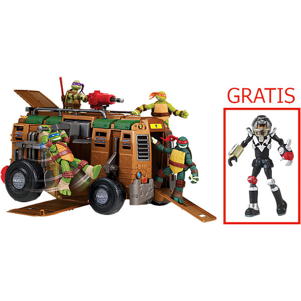 Turtles Shellraiser mit 1 Gratis Turtles Dimension X Figur