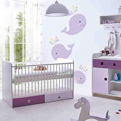 Babyzimmer prinzessin 3 tlg kinderbett wickelkommode for Kinder babyzimmer