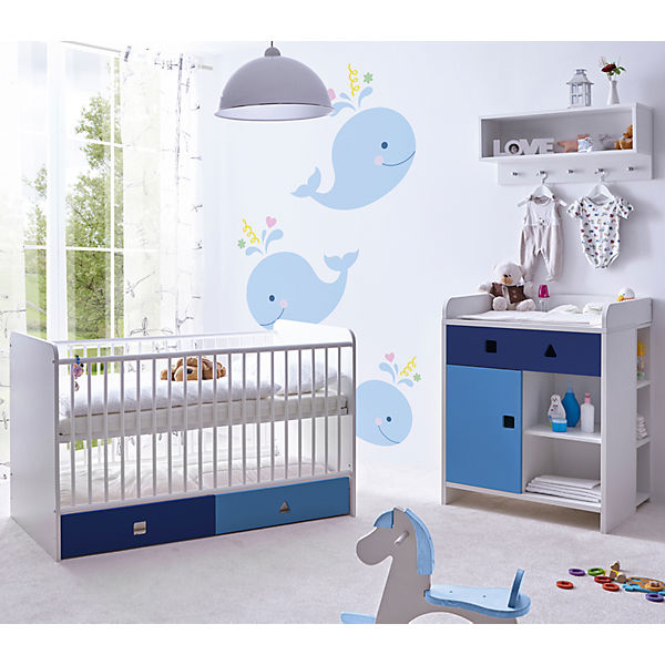 komplett babyzimmer cubo 3 tlg blau ticaa mytoys. Black Bedroom Furniture Sets. Home Design Ideas