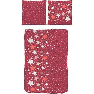 kinderbettw sche sterne rot biber 135 x 200 cm mytoys. Black Bedroom Furniture Sets. Home Design Ideas
