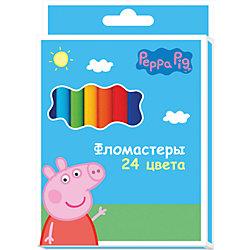 Фломастеры 24цв., Свинка Пеппа