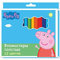 Фломастеры 12 цв., Свинка Пеппа