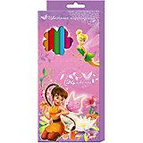 Цветные карандаши, 24 цв., Феи Дисней