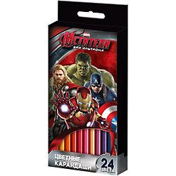 Цветные карандаши, 24 цв., Мстители