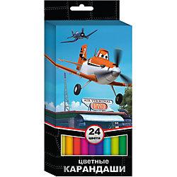 Цветные карандаши 24 цв., Самолеты