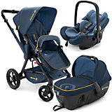 Коляска 3 в1 Wanderer Travel Set, Concord, Denim Blue 2015
