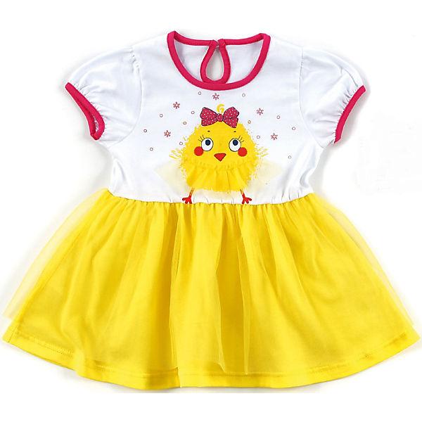 Платье для девочки Апрель - желтый