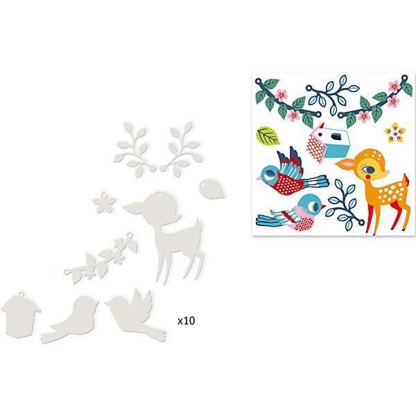 """Необычный набор для создания украшений """"Лань и птица"""""""