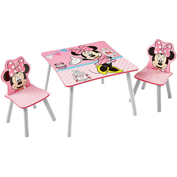 Kindersitzgruppe 3-tlg., Minnie Mouse, Punkte