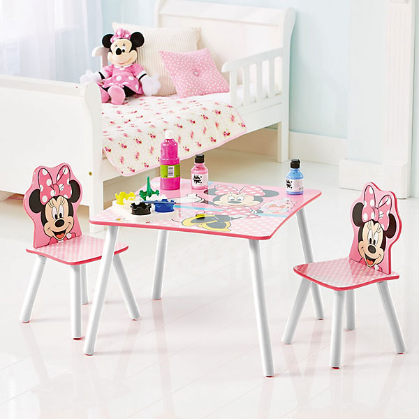 kindersitzgruppe 3 tlg minnie mouse punkte disney minnie mouse mytoys. Black Bedroom Furniture Sets. Home Design Ideas