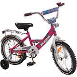 Велосипед с корзиной, MARS, темно-розовый