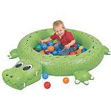 Сухой надувной бассейн Крокодил, Upright