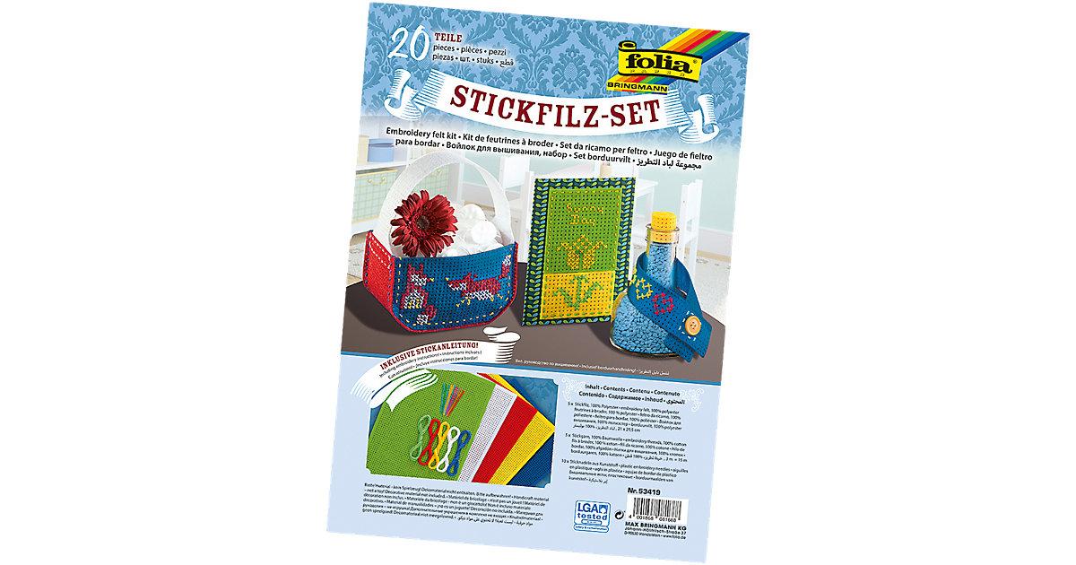 Stickfilz-Set, 20-tlg.